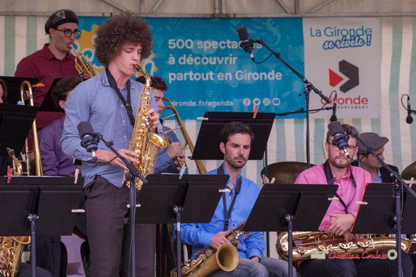 Pierre Thiot; Big Band du Conservatoire Jacques Thibaud. Festival JAZZ360 2019, parc du château de Pomarède, Langoiran. 06/06/2019