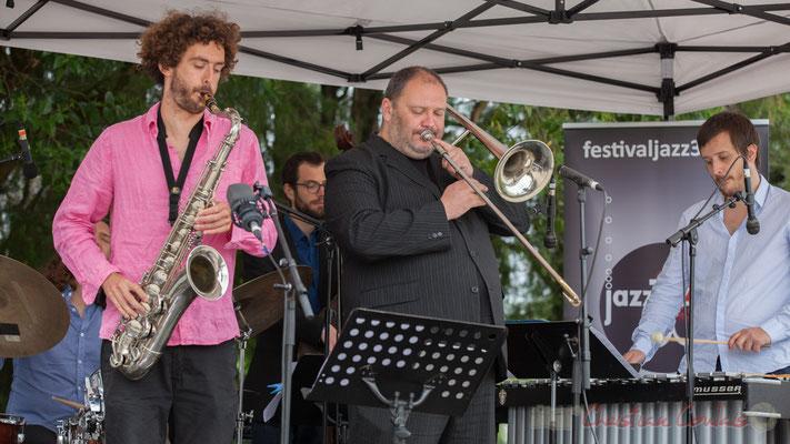 Alexis Valet Quartet : Brice Matha, Aurélien Gody, Jéricho Ballan, Alexis Valet. Festival JAZZ360 2016, Quinsac, 12/06/2016