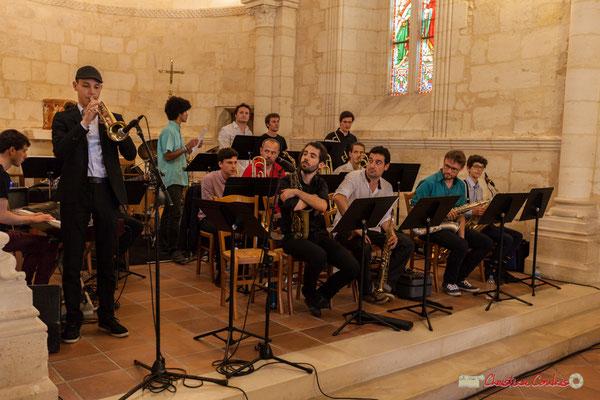 Robin Péret; Big Band Jazz du conservatoire de Bordeaux Jacques Thibaud. Festival JAZZ360 2018, Cénac. 09/06/2018