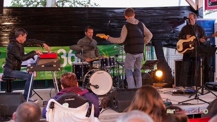 Christophe Maroye Quartet : Xavier Duprat, claviers; Didier Ottaviani, batterie; Christophe Maroye, guitare; Marc Vullo, basse. JAZZ360-M.A.S. L'ADAPT, Camblanes-et-Meynac. 17/05/2019.
