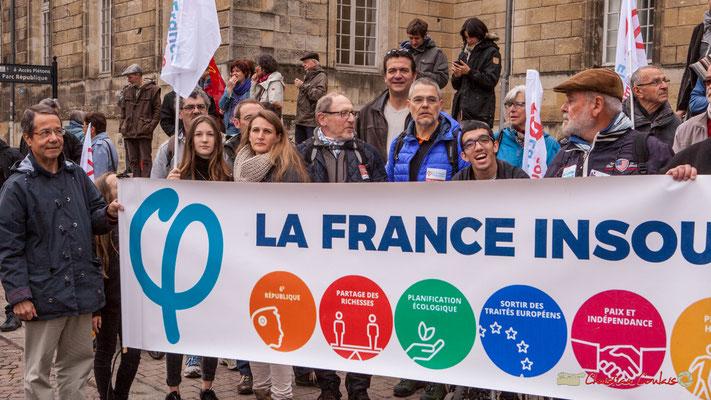10h12 La France insoumise, parvis de l'Hôpital Saint-André, place de la République, Bordeaux. 01/05/2018