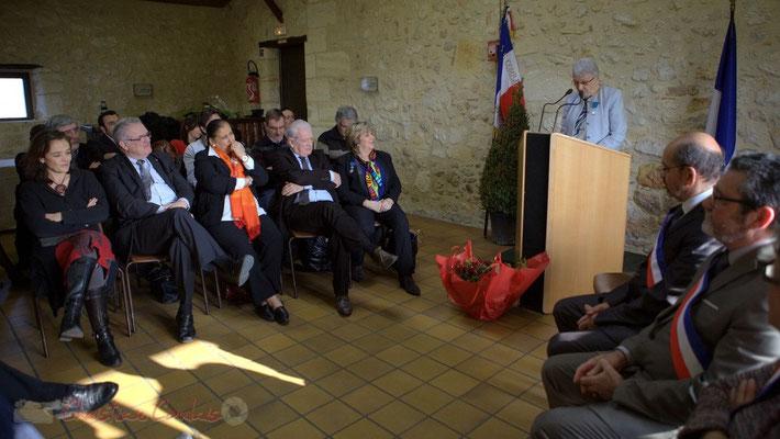 Souvenirs des différentes activités... Discours de Suzette Grel, 7 février 2015, Le Pout