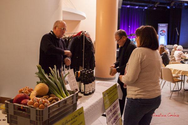 Olivier Reumaux, Château le Parvis de Dom Tapiau, viticulteur & maraîcher bio. Soirée Club JAZZ360, Cénac. Samedi 1er février 2020 ©Christian Coulais