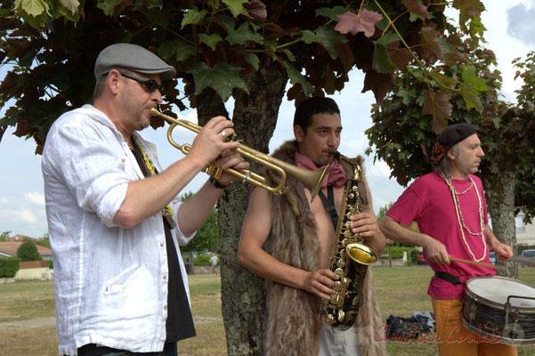 Elephant Brass Machine, Régis Lahontâa, Mathis Polack, Jean-Michel Achiary. Festival JAZZ360 2015, Cénac, 12/06/2016
