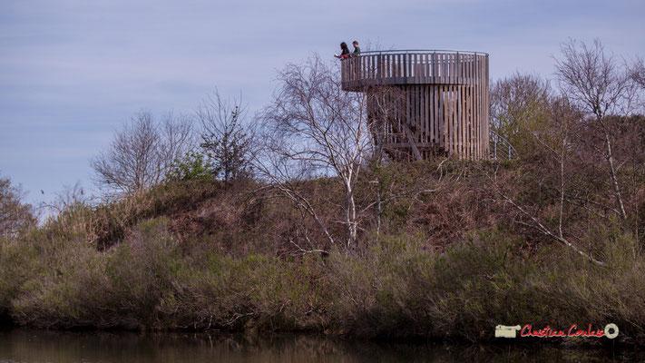 Observatoire 360° de la réserve ornithologique du Teich, samedi 16 mars 2019. Photographie © Christian Coulais