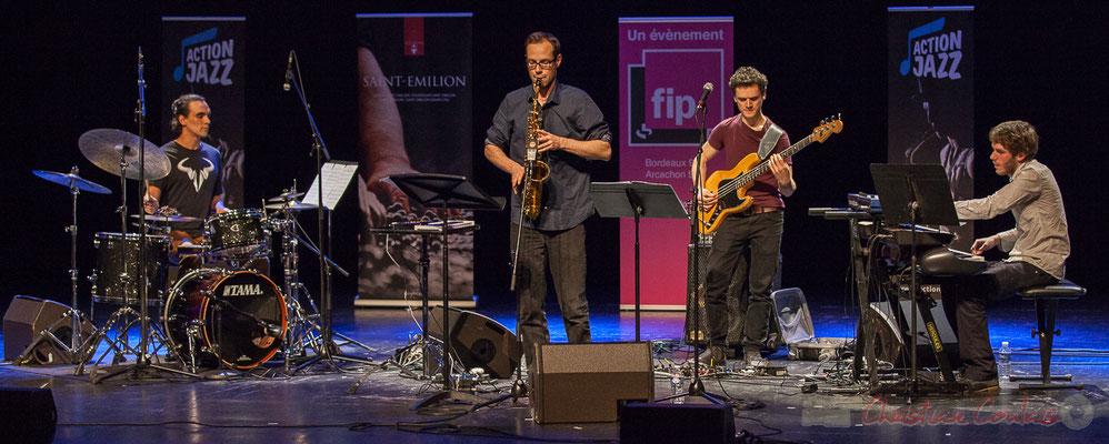 14 Gaétan Diaz, Julien Dubois, Ouriel Ellert, Simon Chivallon, quartet Le JarDin. Tremplin Action Jazz 2017. Le Rocher de Palmer