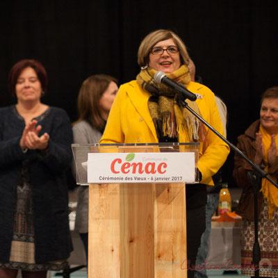 06/01/2017. Catherine Veyssy, Vice-présidente du Conseil régional, Maire de Cénac