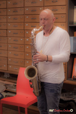Guillaume Schmidt, saxophoniste. Festival JAZZ360, Machine à Musique, Bordeaux. 02/06/2018