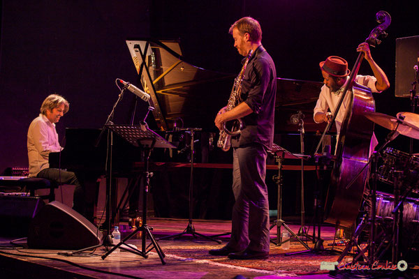 Vincent Bourgeyx, David Prez, Joe Sanders; Vincent Bourgeyx Quartet. Festival JAZZ360 2018, Cénac. 09/06/2018