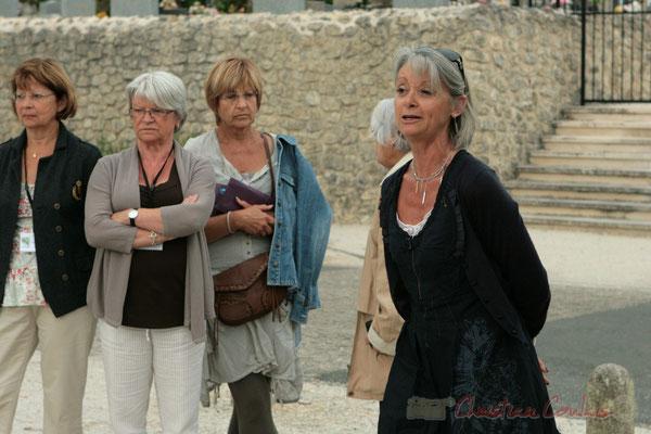 Simone Ferrer, Maire de Cénac; Apéritif inaugural en hommage aux bénévoles, Festival JAZZ360 2011, Cénac. 04/06/2011