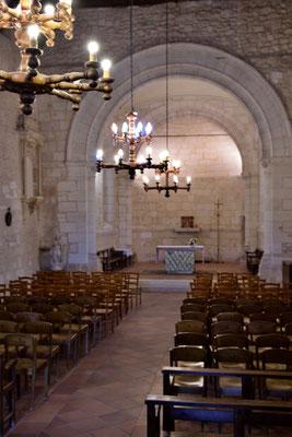 Intérieur de l'église Saint-André, par Jean-Pierre Couthouis. Cénac d'aujourd'hui. 24/04/2018