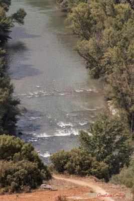 La rivière Irati rejoind le fleuve Aragon, en aval de la Foz de Lumbier, Navarra