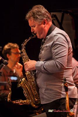 Sylvain Beuf; Medium Ensemble 3 de Pierre de Bethmann. Festival JAZZ360 2019, Cénac. 07/06/2019