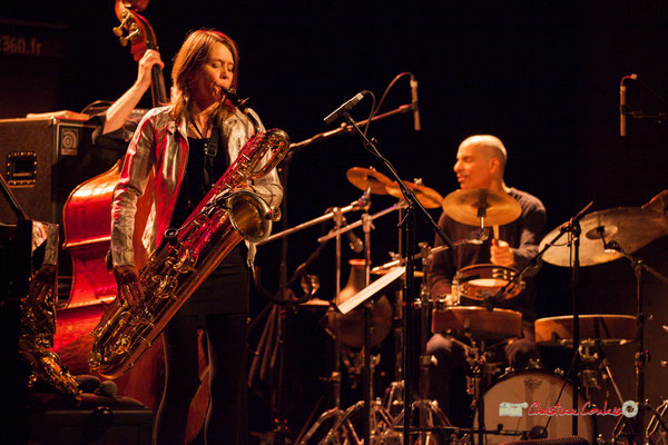 Céline Bonacina, Asaf Sirkis; Céline Bonacina Crystal Quartet; Festival JAZZ360 2019. Cénac, 08/06/2019