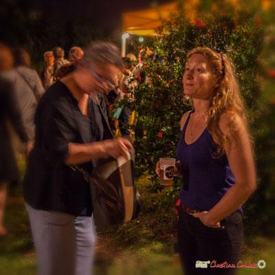 Leslie Seuve, responsable des lumières, salle culturelle de Cénac. Après concert de Louis Sclavis Quartet; Festival JAZZ360 2018, Cénac. 08/06/2018
