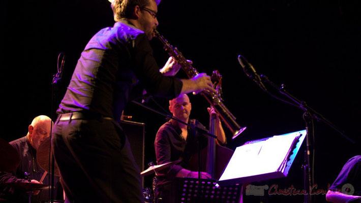 """Daniel Humair, Emile Parisien, Jérôme Regard; Daniel Humair Quartet """"Sweet & Sour"""", Festival JAZZ360 2013, Cénac, 08/06/2013"""