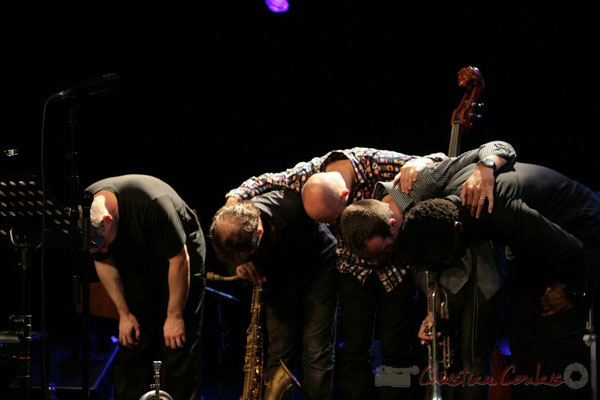 Jean-Yves Jung, Frédéric Borey, Mauro Gargano, Sylvain Gontard, Roger 'Kemp' Biwandu; Roger Biwandu Quintet, Festival JAZZ360, Cénac 03/06/2011