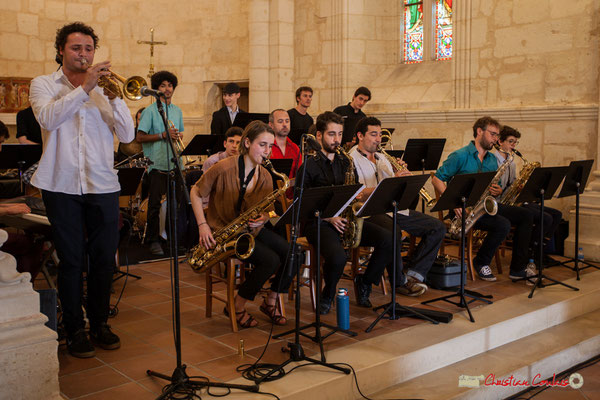 Louis Gachet; Big Band Jazz du conservatoire de Bordeaux Jacques Thibaud. Festival JAZZ360 2018, Cénac. 09/06/2018