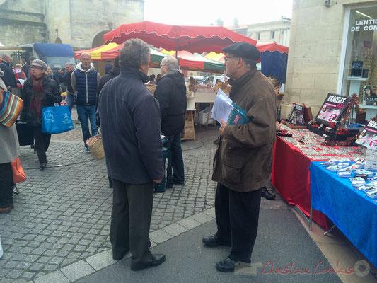Front de Gauche : Jean-Paul Petit, Conseiller municipal de Saint-Caprais-de-Bordeaux, marché de Créon, Gironde