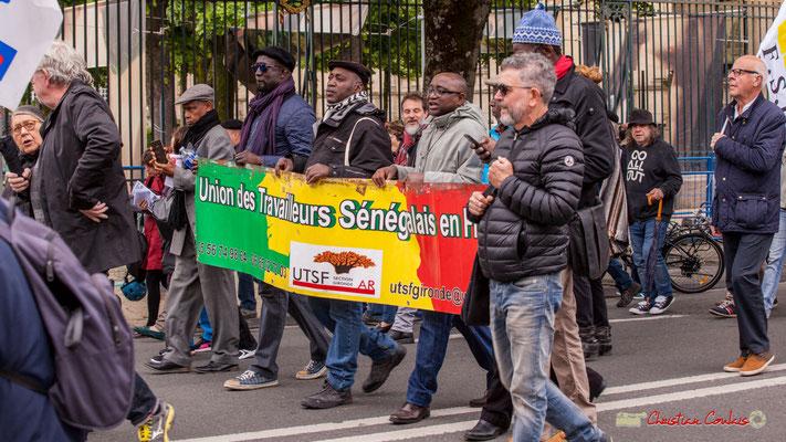 10h35 Union des Travailleurs Sénégalais en France. Cours d'Albret, Bordeaux. 01/05/2018
