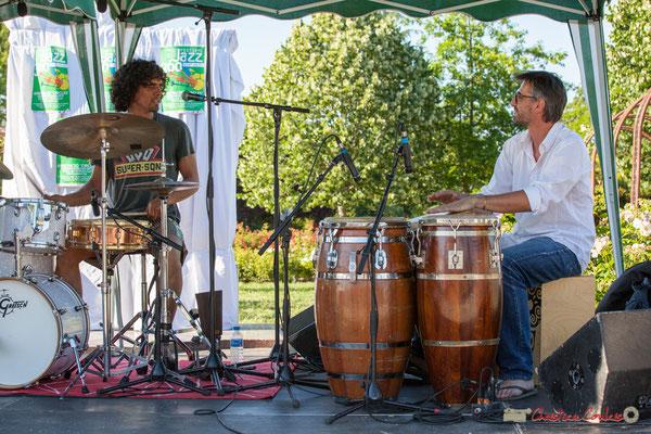 Gaétan Diaz, Jean-Marc Pierna. Gaétan Diaz Quintet. Festival JAZZ360, 10 juillet 2017, Cénac