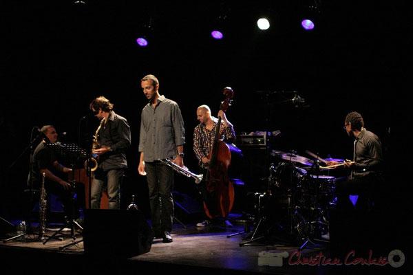 Jean-Yves Jung, Frédéric Borey, Sylvain Gontard, Mauro Gargano, Roger 'Kemp' Biwandu; Roger Biwandu Quintet, Festival JAZZ360 2011, Cénac. 03/06/2011