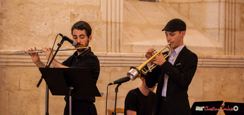 Alexandre Aguilera, Robin Péret; Big Band Jazz du conservatoire de Bordeaux Jacques Thibaud. Festival JAZZ360 2018, Cénac. 09/06/2018
