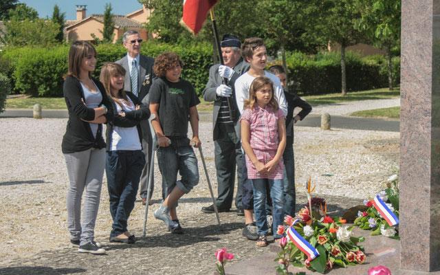 Hommages et commémoration de l'Armistice du 8 mai 1945 à Cénac, ce dimanche 8 mai 2011.
