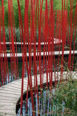 « Carré & Rond »; Yu Kongjian, architecte paysagiste; Prés du Goualoup; Domaine de Chaumont-sur-Loire. Mercredi 26 août 2015. Photographie © Christian Coulais