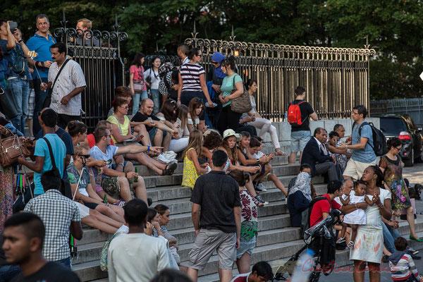 Touristes internationaux, Sacré-Cœur de Montmartre, Paris 18ème arrondissement