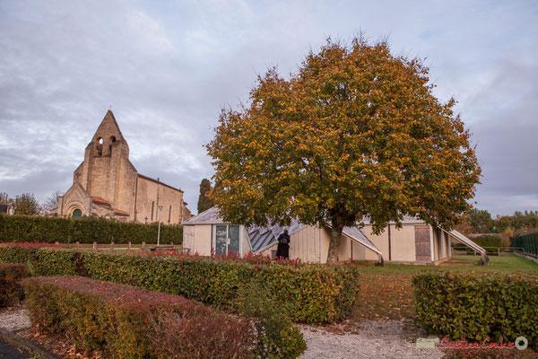 Maison pour Tous et église Saint-André, (ouest), Cénac. 10/11/2017