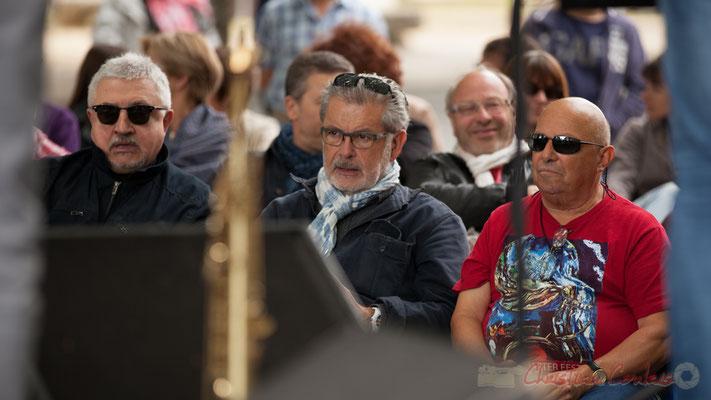 Dom Imonk, Philippe Desmond, Alain Piarou, l'équipe d'Action Jazz, partenaire de JAZZ360. Camblanes-et-Meynac, 11/06/2016