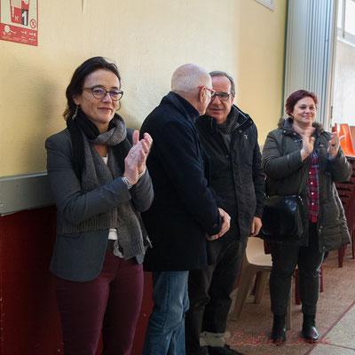 Vœux du Maire de Haux aux administré-es le 14 janvier 2017, en présence de Mathilde Feld, Présidente de la C.D.C. du Créonnais