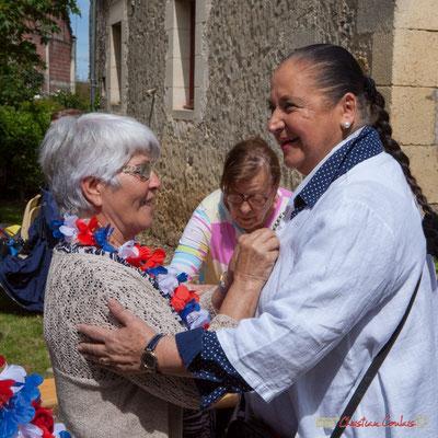 Martine Faure, Conseillère municipale d'Aillas (2001-2008). 14 mai 2017, Blasimon