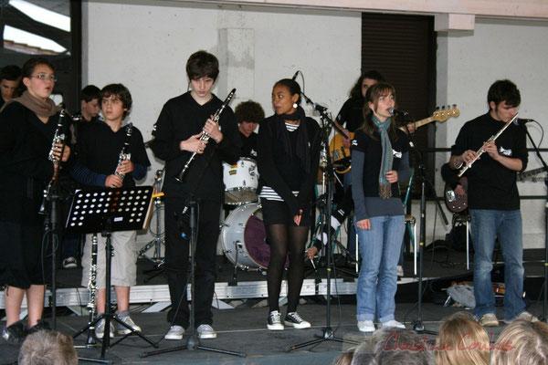 Chant et flûte traversière. Big Band Jazz du Collège Eléonore de Provence, de Monségur (promotion 2010). Festival JAZZ360 2010, Cénac. 12/05/2010