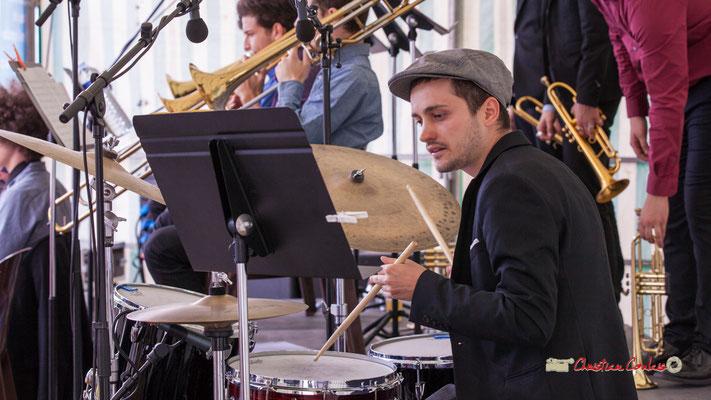 Clément Bourciquot; Big Band du Conservatoire Jacques Thibaud. Festival JAZZ360 2019, parc du château de Pomarède, Langoiran. 06/06/2019