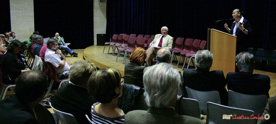 Guy Georges, secrétaire général du SNI-PEGC; Martine Faure, Députée de la Gironde. Lancement officiel de l'opération nationale Arbres de la Laïcité. Créon, samedi 19 juin 2010