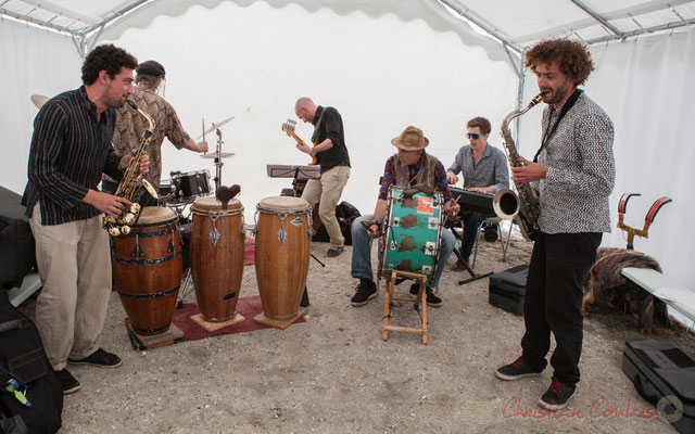 Elephant Brass Machine, en formation orchestre. Festival JAZZ360 2016, Cénac, 10/06/2016