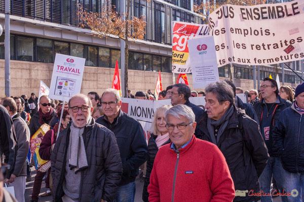 """M1717 """"Le capital coûte trop cher"""" Mouvement du 1er juillet """"Travail un autre choix est possible"""" Manifestation intersyndicale contre les réformes libérales de Macron. Cours d'Albret, Bordeaux, 16/11/2017"""