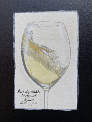 Riesling im Glas