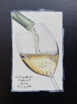 Chardonnay im Glas