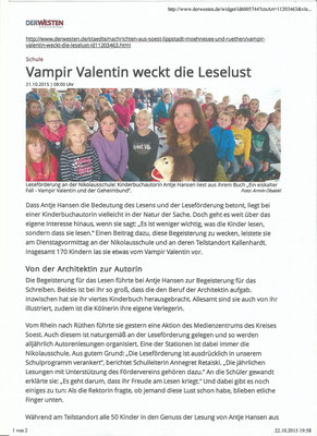 Westfalen Post Vampir Valentin