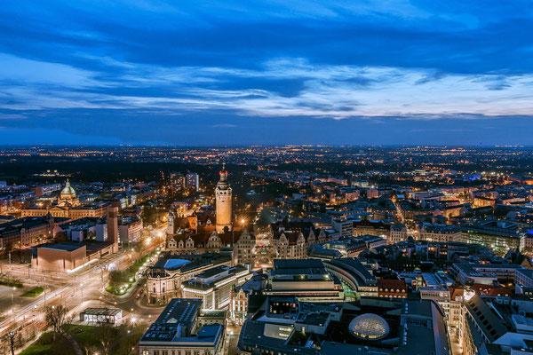 Leipzig mit Blick vom MDR-Tower