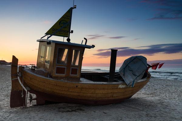 Kutter am Strand von Ahlbeck