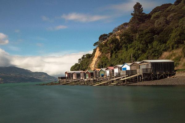 Akaroa Bootshäuser