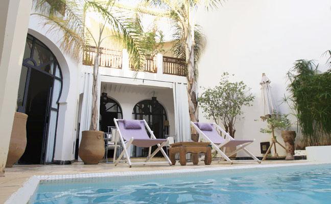 Riad de charme avec piscine marrakech my secret marrakech - Location maison avec piscine marrakech ...