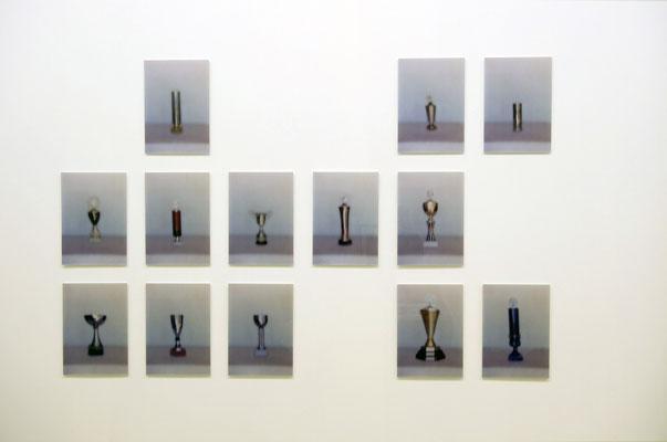 """""""Trophäen"""", 2006, Ausstellungsansicht, Axel Obiger, Berlin, 2009"""