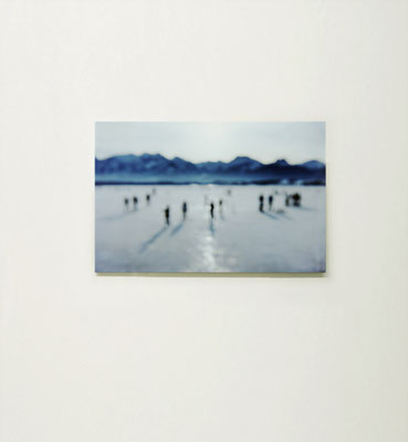 """""""Schneesee"""", 2007, Ausstellungsansicht, K4 galerie, Saarbrücken, 2009"""
