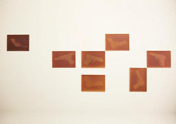 """Wally (Detail) aus """"Fade out"""", Ausstelllungsansicht, 2012, Axel Obiger, Berlin - Tag 4"""