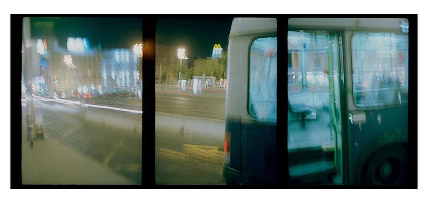 …............. Nachtbus, Budapest 2004